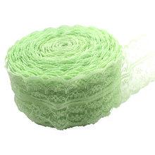 50 ярдов 45 мм спандекс кружева эластичные ремесла швейная лента стрейч кружева обрезки ткани трикотажный материал DIY аксессуары для одежды(Китай)