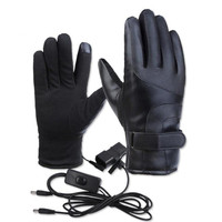 12-96V Motorcycle Waterproof Smart Heated Riding Gloves Dropship Unisex Electric Heat Winter Warm Sport Gloves 4 Colors Optional