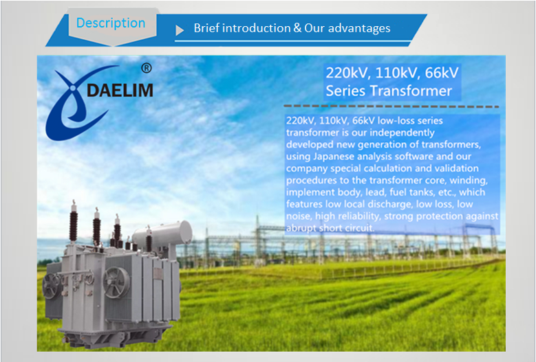 Good quality high voltage 220kv 110mva main power transformer