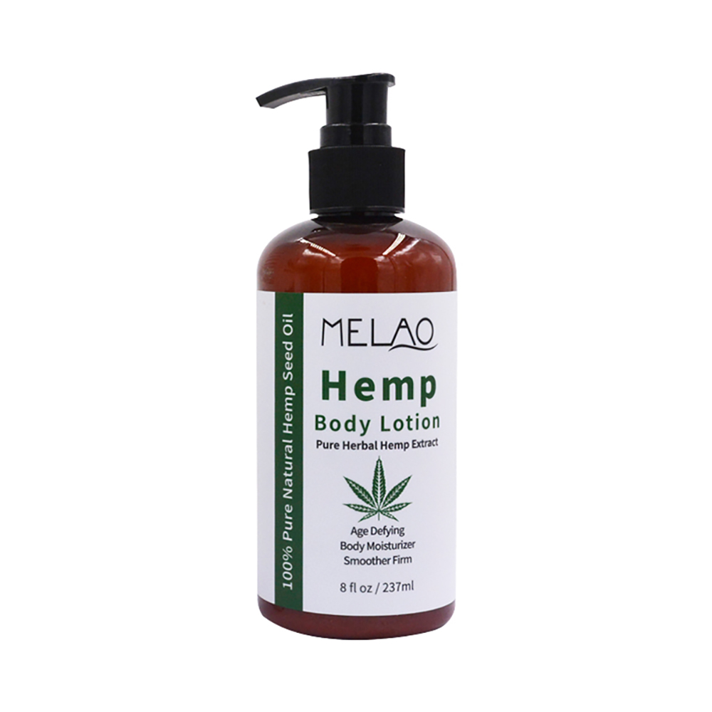 China skin care product brands OEM manufacture private label hemp body lotion cream