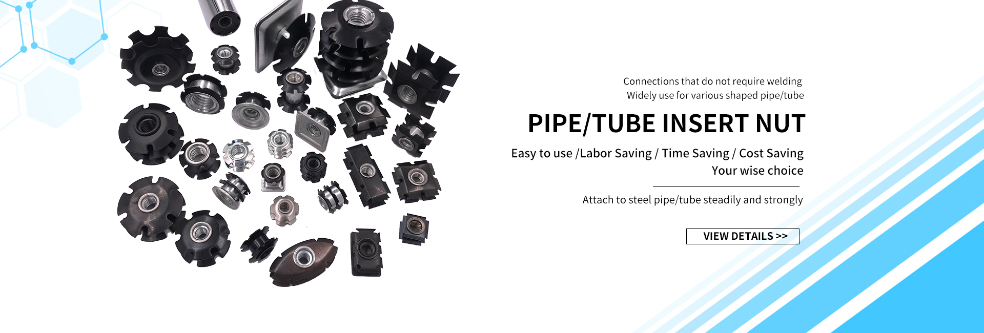 Draht Regale Post Ecke Halterung Hülse | Carbon Stahl | 12,7mm-25,4mm