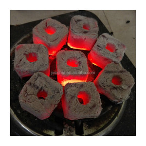 Machine Made Briquette Shape best price per ton of charcoal, for shisha & hookah smoking Made In China