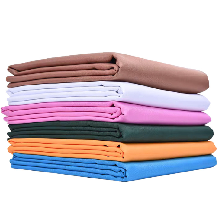 Workwearผ้าหุ้นจำนวนมากT/Cโพลีเอสเตอร์ผ้าฝ้ายเครื่องแบบผ้า