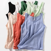 New Summer Ladies Vest Loose Women Tank Tops Sleeveless Lady Tank Tops