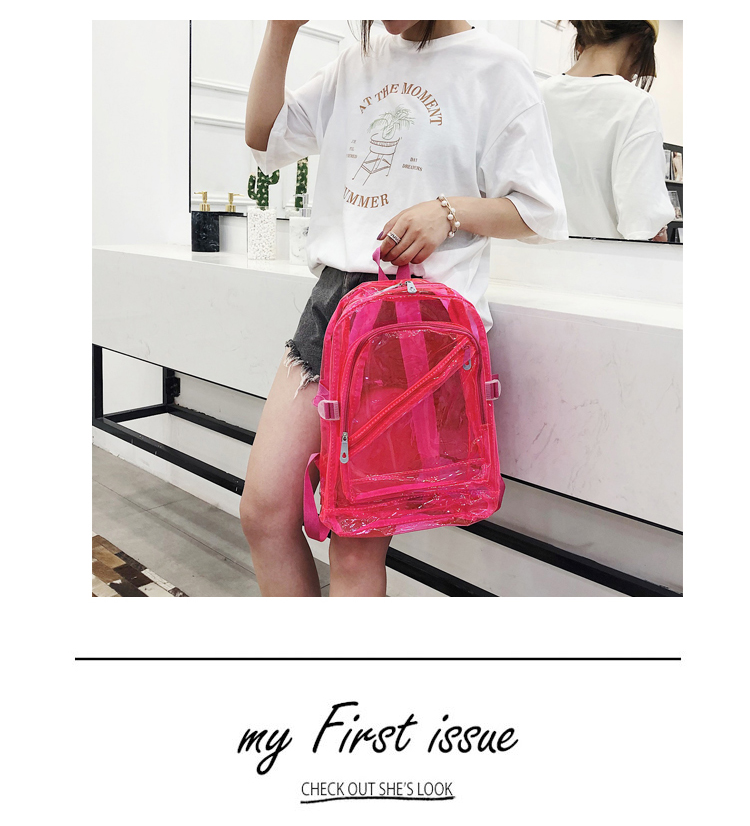 Wholesale Custom Large Waterproof PVC Jelly Clear Summer Beach Backpack with LOGO