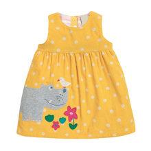 Маленькое платье maven; Вельветовое платье без рукавов для девочек; Детская одежда; Зимнее платье для малышей; Детская верхняя одежда с апплик...(Китай)