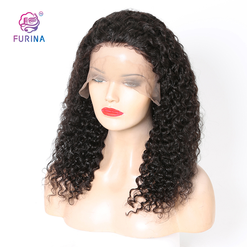 Deep Curly Front Lace Human Hair Wigs For Black Women wigs human hair virgin brazilian hair wig natural