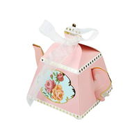 Teapot Tea Cup Shape Candy Boxes Wedding Gifts Party Favors for Bridal Birthday Baby Shower Party Decoration Multi color