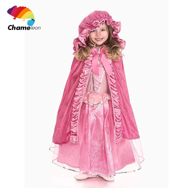 Großhandel Halloween Kinder Kleidung Zauberer Mäntel Kinder Mäntel Hexe Mantel + Hut Zwei Sätze Spitze Kinder Mantel Mantel Mädchen Thema Kostüm