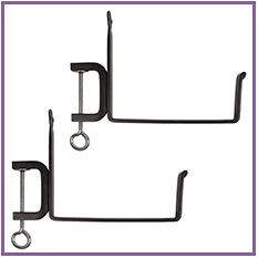 Plant Pot Wall Mounted Metal Bracket Holders Hooks Hanger for Holding Planters and Flower Pots 4/6/8 Inches Diameter