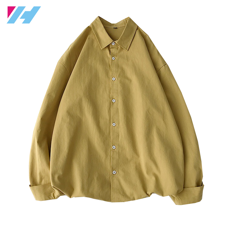 2020 de manga larga y asequible botones Simple hombres camisas