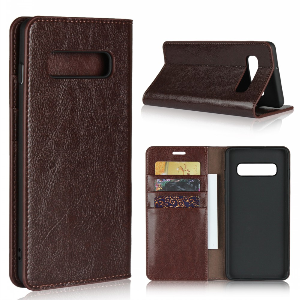 iCoverCase Genuine Leather Wallet Folio Flip <strong>Case</strong> For <strong>Samsung</strong> Galaxy S10e S10 S9 S8 Plus S7 <strong>S6</strong> <strong>Edge</strong> Phone Cover