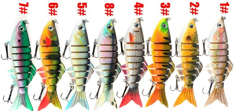 Factory Multi Jointed Swimbait Fishing Lure , Artificial Bait Fishing Tackle Swim Hard Bait