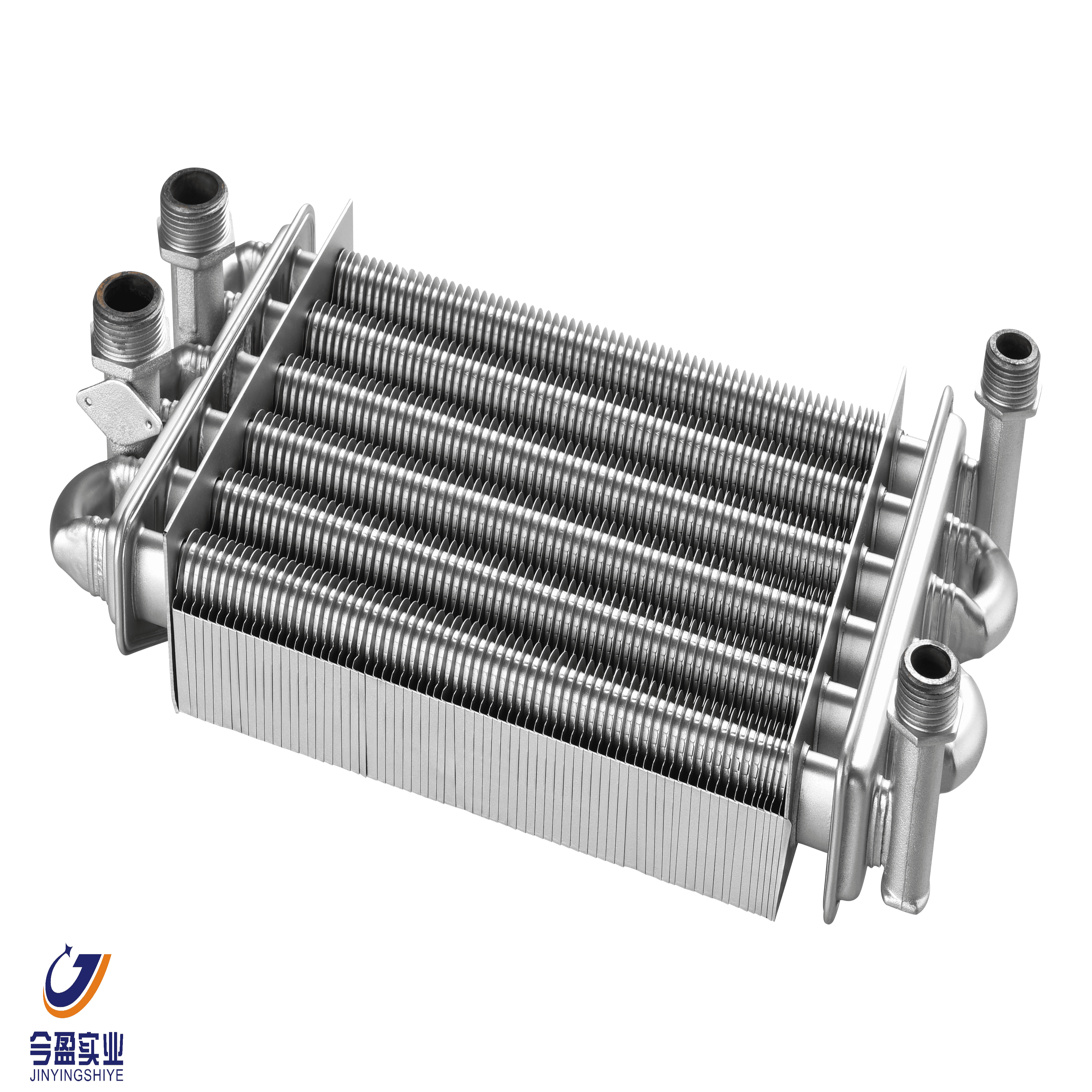part of boiler, two tube of heat exchanger, wall hung boiler part,