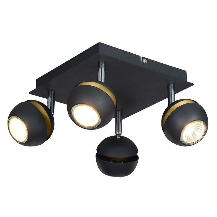 Popular Solar Interaction Black Ceiling Lamps Luxury Chrome Wall Lamp With Spot Light