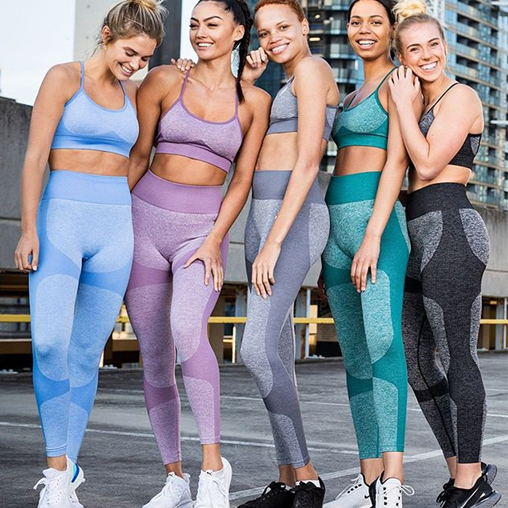 Wholesale Sportswear Fitness Clothing 2 Piece Set Women Clothing Seamless Yoga Set