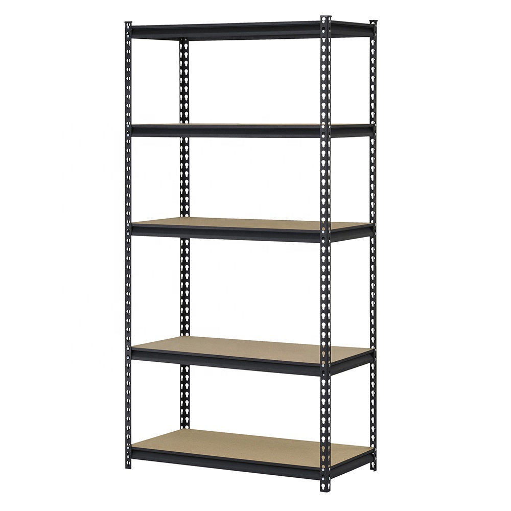 Tugas Berat 5 Tier Steel Otot Rak Rak Penyimpanan Unit Adjustable Logam Rak