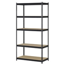 Heavy Duty 5 Tier Steel Muscle Rack Storage Shelving Unit Adjustable Metal Shelf