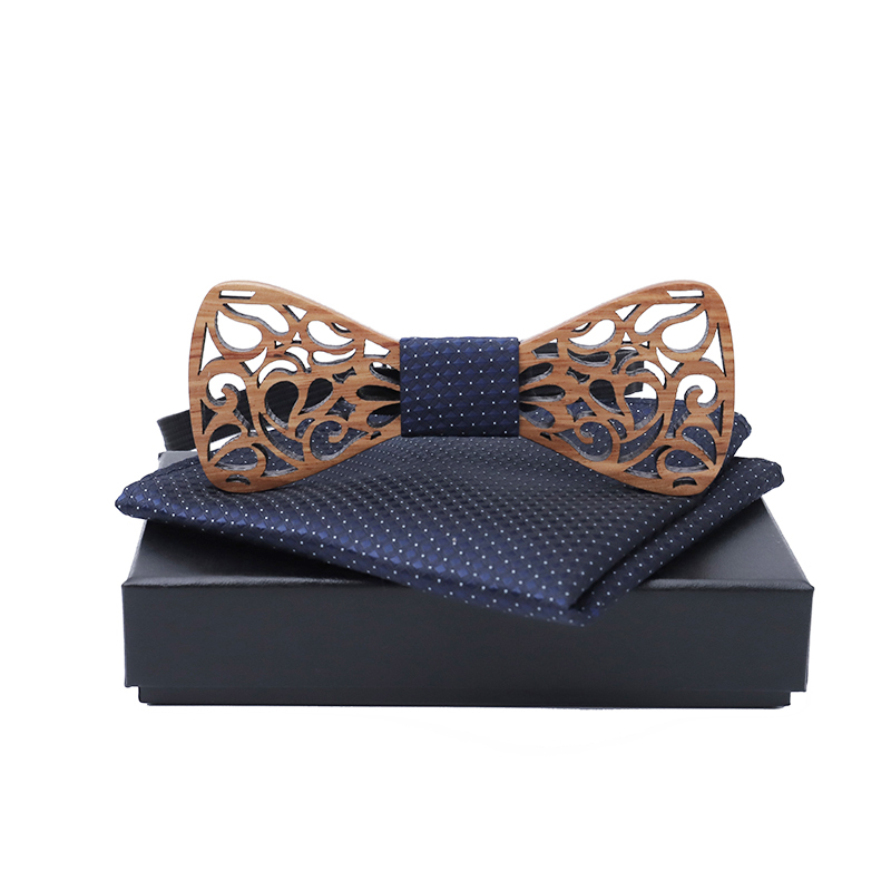 Модный дизайн резной Свадебный галстук-бабочка роскошный деревянный галстук-бабочка