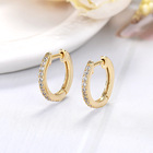 Gold Plated Cubic Zirconia Cubic Zirconia Earrings 14K Gold Plated Cubic Zirconia Cuff Diamond Hoop Stud Earrings For Women 2020