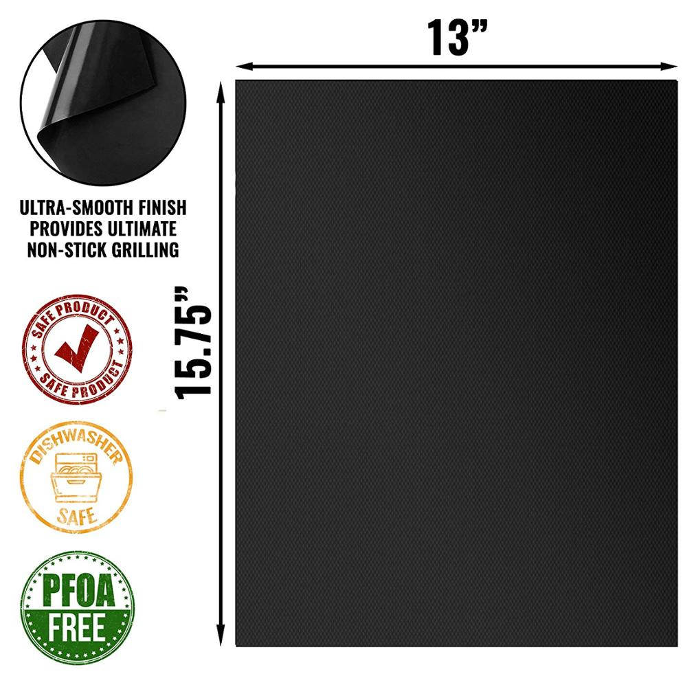 Free Sample 0.4Mm Thick Heavy Duty Barbecue Tool Set Non Stick Bbq Grill Mat
