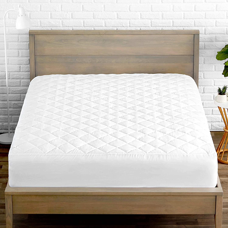 Sarung Kasur Empuk Ukuran King, Pelindung Matras Anti Serangga Hypoallergenic Hotel Bed Cover Tahan Air