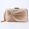 2019 Elegant Pleated Satin Formal Clutch Evening Bag Simple Classy Purse for Women Clutch Purse Evening Party Bags Clutches