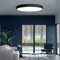 modern indoor led round shape led black ceiling light lamps bedroom