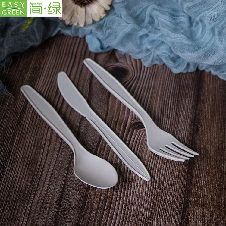 Usa e getta amido di mais degradabile set di posate occidentale cibo pasta insalata di frutta coltello forchetta cucchiaio