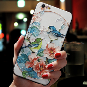Cute Flower TPU 3D Emboss Silicone Case For iPhone X XR 6 6S 7 8 Plus 5 5S SE 11 Pro Cases For iPhone XS Max Coque Cover