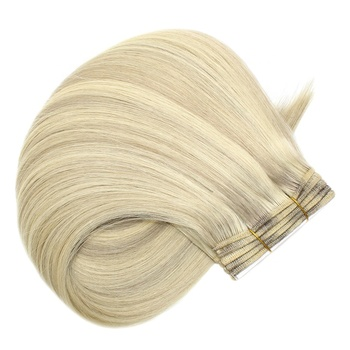New Arrival Thick Bottom Double Drawn Color Ash Blonde Hair