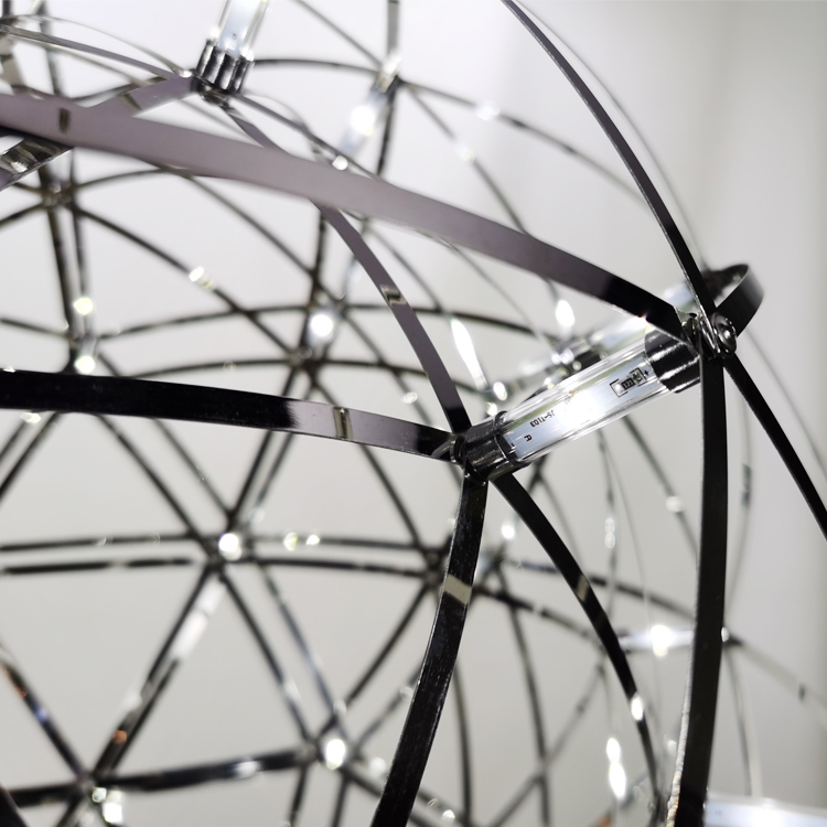 New Design Modern Fashion Star Ceiling Light Fiber Optic Pendant Light Spark LED Hanging Lamp