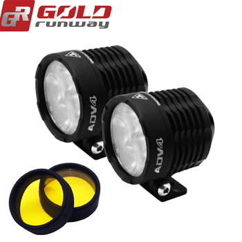 GOLD RUNWAY New ADV4 Motorcycle Headlights 32W 3600LM 6000K XPL V5 LED Chip Motorbike Spotlight