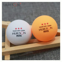 HUIESON OEM 100pcs/bag High-Quality Custom Logo 40+ Plastic New Materials ABS 3 Star Training Ping Pong Table Tennis Ball