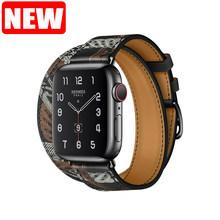 Для Apple Watch 5 ремешок из натуральной кожи Свифт ремешок для Apple Watch двойной одиночный Тур ремешок браслет для iWatch 4 3 2 1 браслет(Китай)