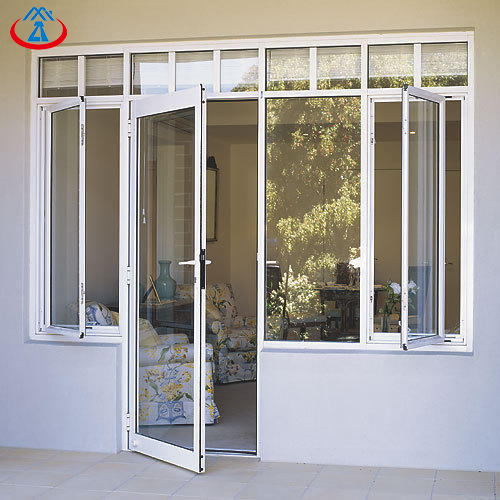 product-Zhongtai-Surface Finished Aluminum Tempered Glass Patio Swing Door Interior Swinging Door-im