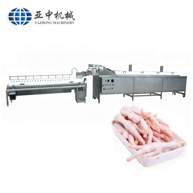 CE approved <strong>chicken</strong> feet peeling cutting machinery <strong>chicken</strong> feet <strong>processing</strong> machine