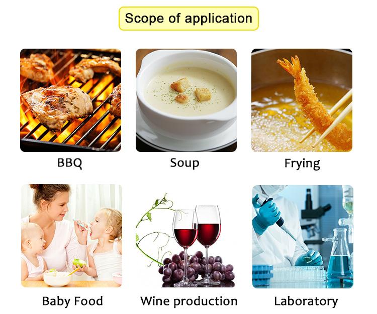 WENMEIC LDT-1805 डिजिटल वायरलेस तह के साथ खाद्य थर्मामीटर जांच bbq मांस खाना पकाने के लिए