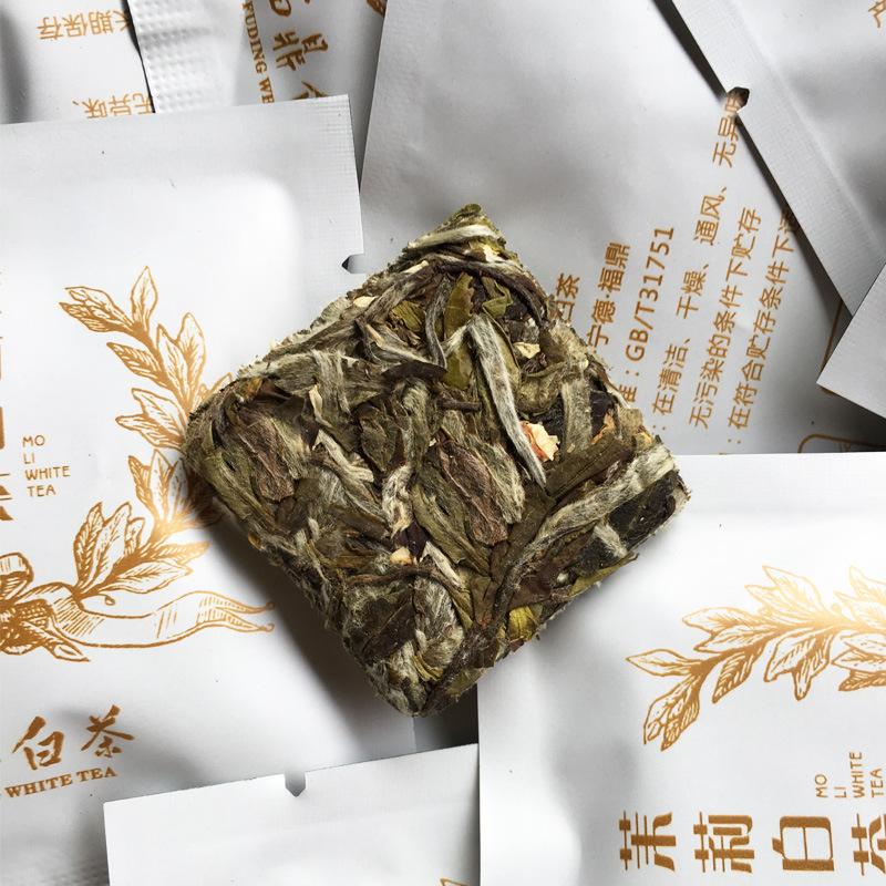 Jasmine white tea 5g in mini cake tuo cha biscuit cube shape - 4uTea   4uTea.com