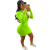 2020 Autumn Solid V Neck Slit Long Sleeve Tight Croup Sexy Bodycon Mini Night Club Party Women Casual Dress