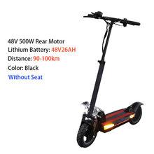 Бесплатная доставка, 10 дюймов, 48 В, 500 Вт, 26AH, безопасный мощный электрический скутер, мощный водонепроницаемый Электрический скейтборд(Китай)