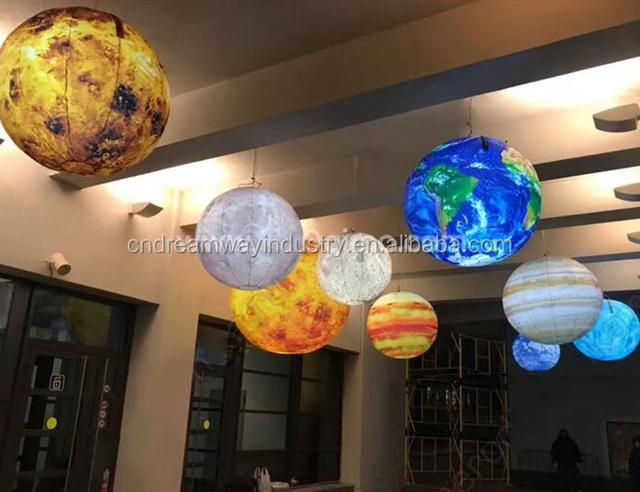 Led Lighting Inflatable Planets Hanging