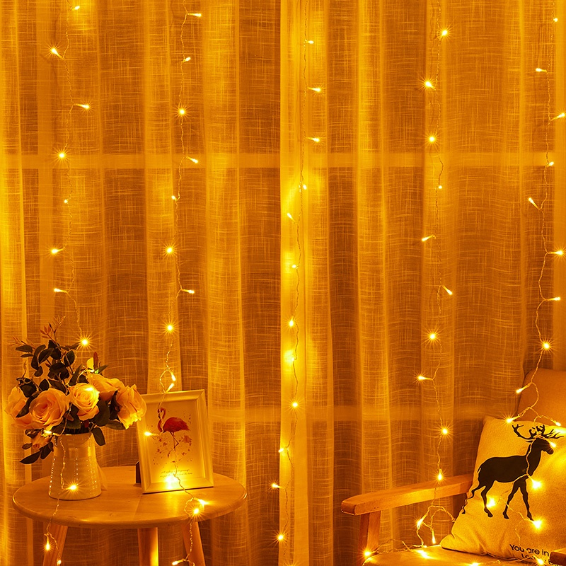 Twinkle 3*3m 300 LED Window Curtain String Light for Wedding Party Home Garden Bedroom Outdoor Indoor Wall Decorations