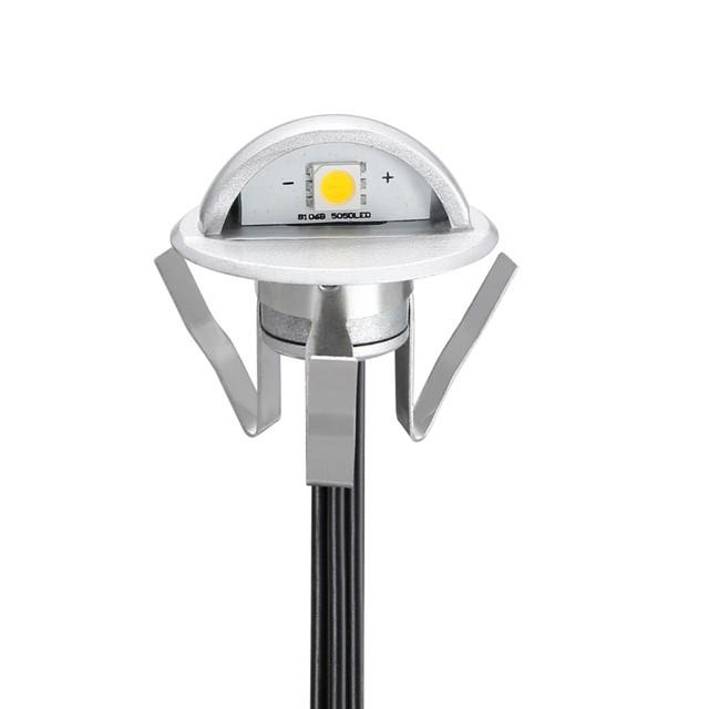 30X 12V Black 45mm Warm White Outdoor LED Deck Stair Step Soffit Terrace Lights