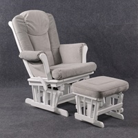 Comfortable Recliner Rocking Chair with Padded cushions and foot stool