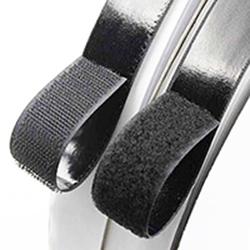 100% Nylon Stoff Individuelles Logo Doppelseitiges Klebeband Schwarz Und Weiß