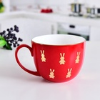 2019 Christmas Gifts Large Capacity Ceramic Breakfast Cup Coffee Cup Milk mug