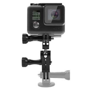 PULUZ CNC Aluminum Ball Joint Mount with 2 Long Screws for DJI OSMO Action, Xiaoyi and Other Action Cameras(Black)