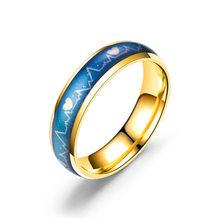 2019, розовое золото, титановая сталь, кольца для женщин, пара, обручальное кольцо, Золотое кольцо для влюбленных, Индивидуальные ювелирные ко...(Китай)