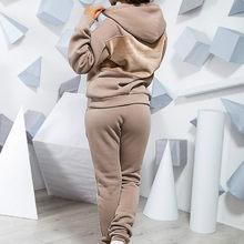 2020 Женская осенне-зимняя одежда, повседневный комплект из двух предметов, спортивный костюм, Женская толстовка с капюшоном, толстовка, штан...(Китай)